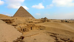 Greate Pyramid, Khafre funerary complex. Egypt Stock Image