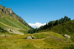 Greater Caucasus in Arkhyz. Greater Caucasus mountain landscape in Arkhyz, Russia Stock Photos
