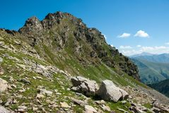 Greater Caucausus mountain. Landscape of Greater Caucausus mountain, Russia Stock Photo