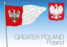 Greater Poland regional flag, Poland Stock Photo