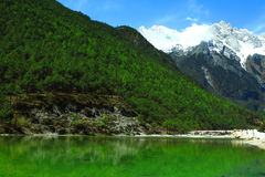 Greatest beautiful nature with the emerald river. (Shangri-La , China Royalty Free Stock Photo
