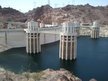 Hoover Dam Nevada. The greatest dam in the world lake Mead Stock Image