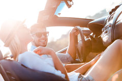 The greatest day for the road trip. stock photo