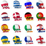 The greatest European Football Tournament Royalty Free Stock Photography