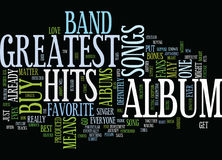 Greatest Hits Text Background  Word Cloud Concept. GREATEST HITS Text Background Word Cloud Concept Royalty Free Stock Photos