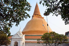 THE GREATEST PAGODA OF NAKHON PATHOM THAILAND Royalty Free Stock Photography