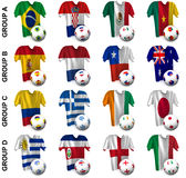 The greatest soccer tournament. Groups A to D Royalty Free Stock Photos