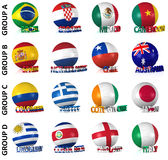 The greatest soccer tournament. Groups A to D Stock Image
