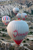 The greatest tourist attraction of Cappadocia , the flight with the balloon at sunrise Stock Image