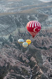 The greatest tourist attraction of Cappadocia , the flight with the balloon at sunrise Royalty Free Stock Images