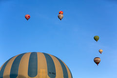The greatest tourist attraction of Cappadocia , the flight with the balloon Stock Photos