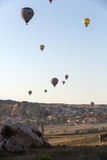 The greatest tourist attraction of Cappadocia , the flight with the balloon Royalty Free Stock Images