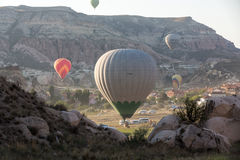 The greatest tourist attraction of Cappadocia , the flight with the balloon Royalty Free Stock Photos