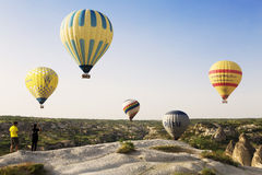 The greatest tourist attraction of Cappadocia Stock Image