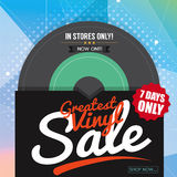 Greatest Vinyl Sale Banner. Royalty Free Stock Photography