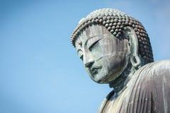 Greath Buddha di Kamakura affronta, tempio di Kotoku, Kanagawa Giappone Immagine Stock