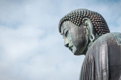 Greath buddha of Kamakura face, Kotoku temple, Kanagawa Japan Stock Photos