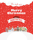Карточка рождества greating иллюстрация вектора
