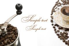Greatingskaart van de koffie Royalty-vrije Stock Fotografie