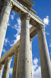 The Greatness of the Roman History. At the Roman Forum on a sunny day Stock Photo