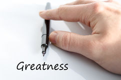 Greatness text concept Stock Photo