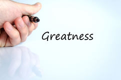 Greatness text concept Stock Image