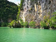 Discovering Thailand,Kayaking stock photography