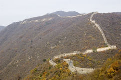 Greatwall of China. The greatwall at mutianyu snakes in the mountain Stock Photo