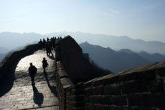 The greatwall 02. Crowd on The greatwall  of China Royalty Free Stock Photo