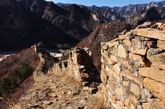 Greatwall e montagna Immagini Stock