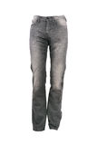 Greay jeans trousers. Isolated on white Royalty Free Stock Photography