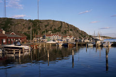Grebbestad Harbour stock photo