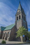 Grebbestads church, north-north-west Royalty Free Stock Images