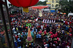Grebeg cultural traditions Sudiro. Thousands of people saw the Chinese New Year carnival that took the start in the Market Gedhe Solo, Sunday (31/01/2016) Royalty Free Stock Images