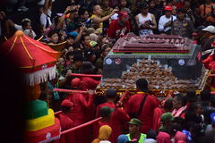 Grebeg cultural traditions Sudiro. Thousands of people saw the Chinese New Year carnival that took the start in the Market Gedhe Solo, Sunday (31/01/2016) Stock Photography