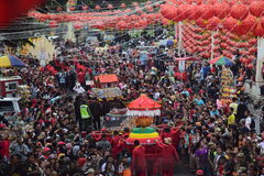 Grebeg cultural traditions Sudiro. Thousands of people saw the Chinese New Year carnival that took the start in the Market Gedhe Solo, Sunday (31/01/2016) Stock Photo