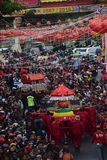 Grebeg cultural traditions Sudiro. Thousands of people saw the Chinese New Year carnival that took the start in the Market Gedhe Solo, Sunday (31/01/2016) Stock Image
