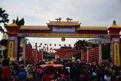 Grebeg cultural traditions Sudiro. Thousands of people saw the Chinese New Year carnival that took the start in the Market Gedhe Solo, Sunday (31/01/2016) Royalty Free Stock Photography
