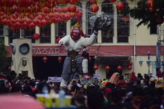 Grebeg cultural traditions Sudiro. Thousands of people saw the Chinese New Year carnival that took the start in the Market Gedhe Solo, Sunday (31/01/2016) Royalty Free Stock Photos