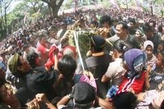 Grebeg syawal ritual Stock Images