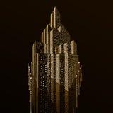greble城市的金子 免版税库存照片