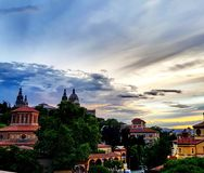 Grec фестиваля Барселоны montjuic стоковое изображение