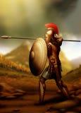 Grec-guerrier Images libres de droits