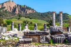 Grec le temple d'Artémis près d'Ephesus et de Sardis Images stock