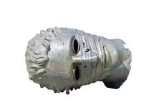Grec Roman Head Sculpture sur le fond blanc Image libre de droits