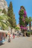 Grec Roman Theater, Taormina, Sicile, Italie Photographie stock libre de droits