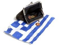 Grec sous l'euro pression Photographie stock libre de droits