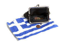 Grec sous l'euro pression Photos stock