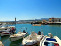 Grec Venise - la ville de Rethymnon photographie stock libre de droits