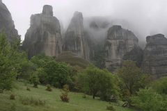 Greccy meteor góry skały falez arywiści Obraz Royalty Free